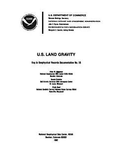 U S  Land Gravity PDF