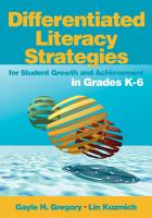 Differentiated Literacy Strategies for Student Growth and Achievement in Grades K 6 PDF