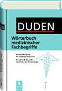 Duden W  rterbuch medizinischer Fachbegriffe PDF