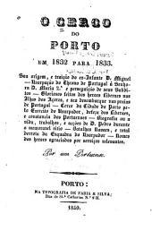 O cerco do Porto em 1832 para 1833: etc