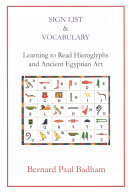 Sign List & Vocabulary Learning to Read Hieroglyphs and Ancient Egyptian Art
