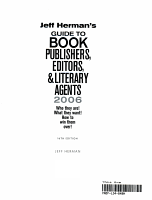 Jeff Herman S Guide To Book Publishers Editors Literary Agents
