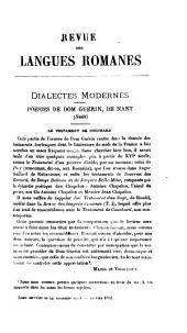 Revue des langues romanes: Volumes17à18;Volumes21à22