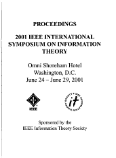 2001 IEEE International Symposium on Information Theory PDF