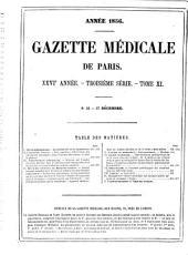 Gazette médicale de Paris: 1856