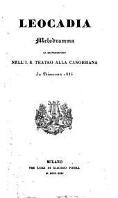 Leocadia: Melodramma