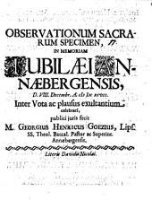 Observationum sacrarum specimen: in memoriam iubiliaei Annaebergensis ... publici iuris fecit M. Georgius Henricus Goezius