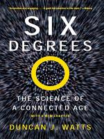 Six Degrees  The Science of a Connected Age PDF
