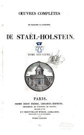 Oeuvres complètes de Madame la baronne de Staël-Holstein: Volume2