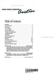 Mapsco Street Guide Directory Austin 2004 Book PDF