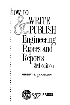 How to Write   Publish Engineering Papers and Reports PDF