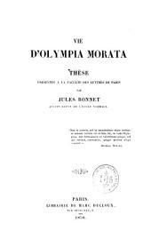 Vie d'Olympia Morata