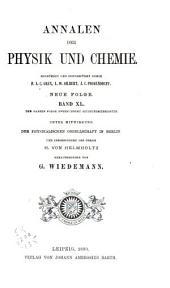 Annalen der Physik und Chemie: Band 40