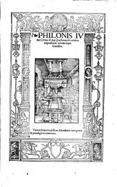 Philonis Judaei Centum et duae quaestiones, et totidem responsiones morales super Genesim