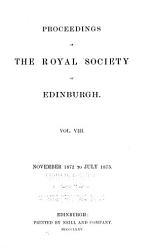 Proceedings Of The Royal Society Of Edinburgh Book PDF