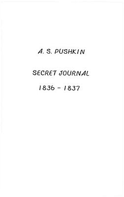 Secret Journal 1836 1837 PDF