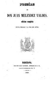Poesías de don Juan Meléndez Valdés