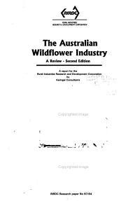 The Australian Wildflower Industry PDF