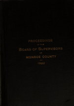 Proceedings of the Board of Supervisors of the County of Monroe