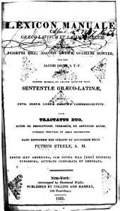 Lexicon manuale Græco-Latinum et Latino-Græcum