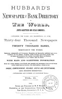 Hubbard s Newspaper and Bank Directory of the World PDF