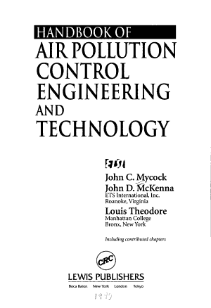Handbook of Air Pollution Control Engineering and Technology