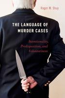 The Language of Murder Cases PDF