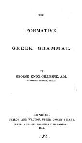 The formative Greek grammar