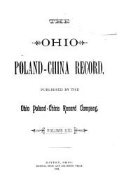 Ohio Poland-China Record: Volume 13