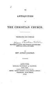 The antiquities of the Christian church