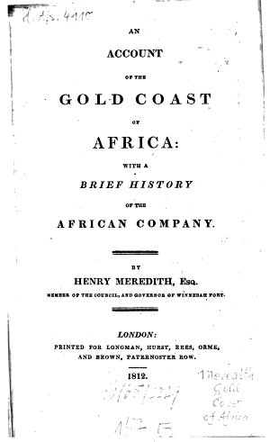 An account of the Gold Coast of Africa