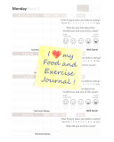 I Love My Food and Exercise Journal PDF