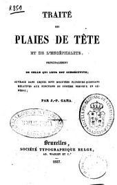 Traité des plaies de tête et de l'encéphalite...