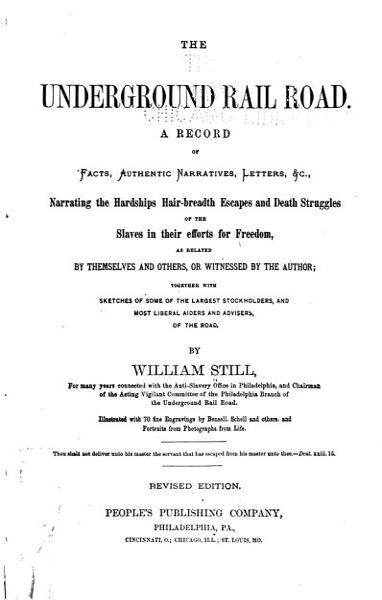 Download The Underground Railroad Book