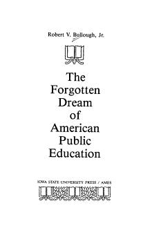 The Forgotten Dream of American Public Education PDF