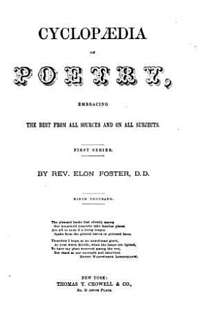 Cyclopaedia of Poetry PDF