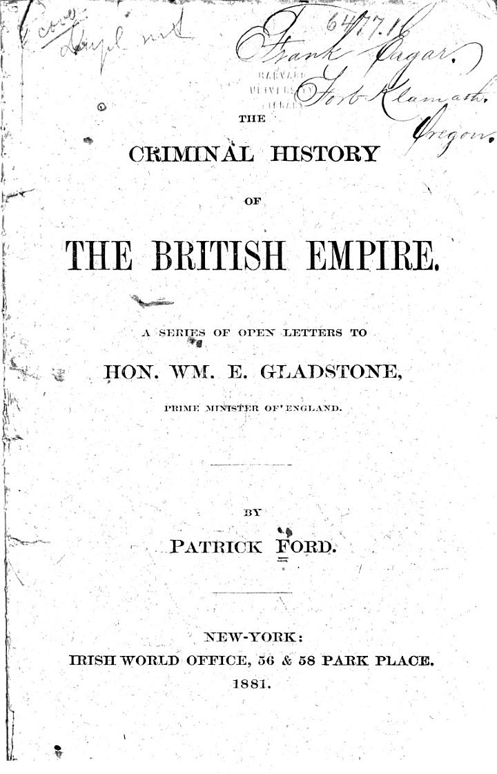 The Criminal History of the British Empire