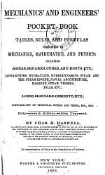 Mechanics and Engineers' Pocket-book Tables, Rules and Formulas ...