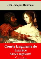 Courts fragments de Lucrèce: Nouvelle édition augmentée