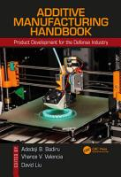 Additive Manufacturing Handbook PDF