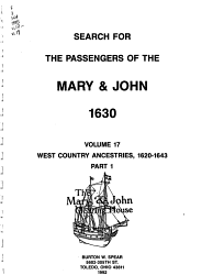 Search for the Passengers of the Mary   John  1630 PDF