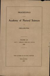 Proceedings of The Academy of Natural Sciences (Vol. LXI, Part I -- Jan., Feb., March, 1909)
