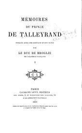 Mémoires du prince de Talleyrand: Volume1