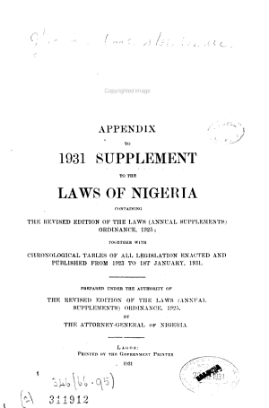 The Laws of Nigeria