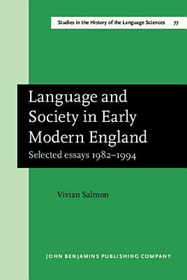 Language and Society in Early Modern England