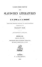 Geschichte der Slavischen literaturen: Band 2,Teil 1