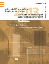 Industrial Commodity Statistics Yearbook 2013. Two Volume Set: Vol 1: Physical Quantity Data; Vol 2: Monetary Value Data