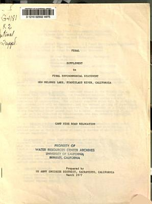 Final Supplement to Final Environmental Statement