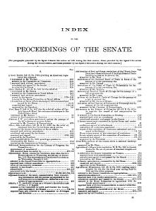 Congressional Record Index PDF