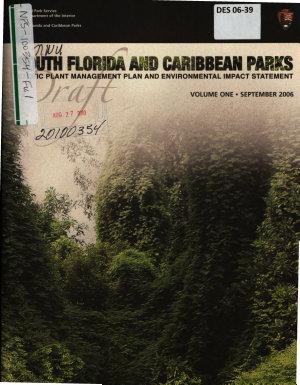 South Florida and Caribbean Parks Exotic Plant Management Plan PDF